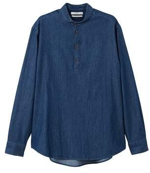 Mango man MANGO MAN Dark wash regular-fit denim shirt