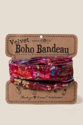 Velvet Boho Bandeau in Berry - Berry