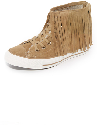 Converse Chuck Taylor Fringe High Top Sneakers $100 thestylecure.com