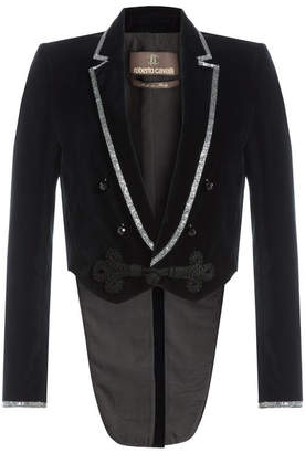 Roberto Cavalli Velvet Blazer with Crystal Embellishment