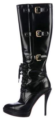 Gucci Lace-Up Knee Boots