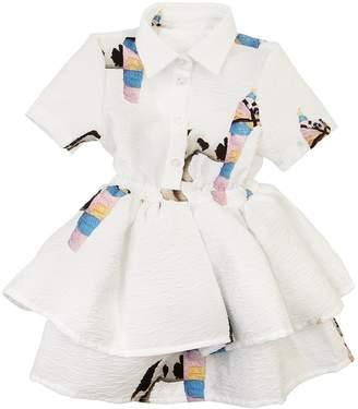 Caroline Bosmans Piñata Printed Crepe Dress