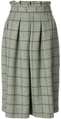 Holland & Holland tweed flared midi skirt