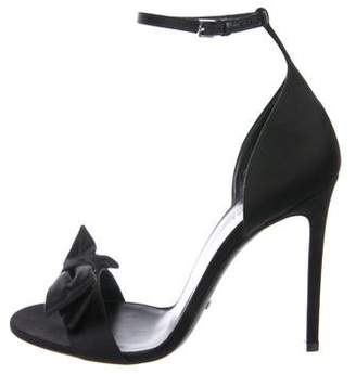 Gucci Bow-Accented Satin Sandals