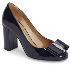 Women's Salvatore Ferragamo Block Heel Bow Pump $595 thestylecure.com
