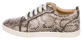 Christian Louboutin Glitter Low-Top Sneakers