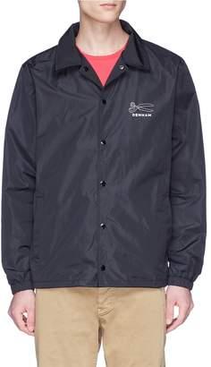 Denham Jeans 'Coach' slogan print jacket