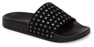 Women's Lucky Brand Piyaa Studded Slide Sandal $58.95 thestylecure.com