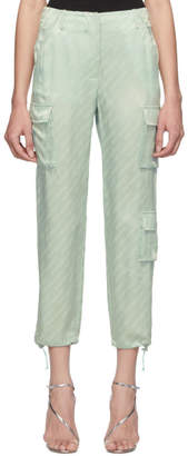 Off-White Off White Green Logo Trousers