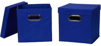 Household Essentials Generic Collapsible Fabric Storage Cube with Lid, 2-Pack