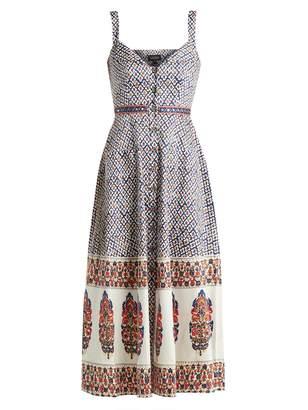 Saloni Fara printed cotton-blend dress