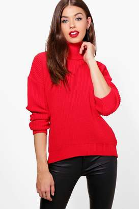 boohoo Fisherman Roll Neck Jumper