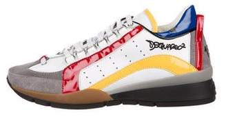 DSQUARED2 Leather Low-Top Sneakers