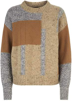 Max Mara Knitted Patchwork Sweater