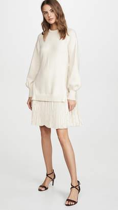 ADEAM Pleated Sweater Dress