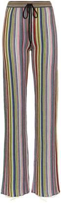 Marques Almeida Marques'almeida stripe slim fit merino wool trousers