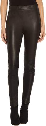 St. John Stretch Nappa Leather Cropped Legging