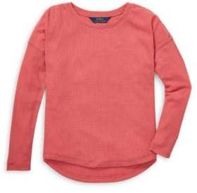 Ralph Lauren Little Girl's& Girl's Dropped Shoulder Top - Red - Size Large (12-14)