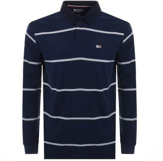 ca85b48e1f5 Tommy Jeans Striped Rugby Polo T Shirt Navy