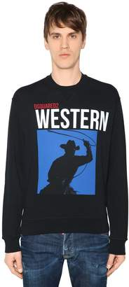 DSQUARED2 Western Print Cotton Sweatshirt