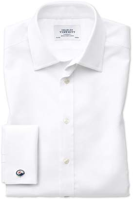 Charles Tyrwhitt Slim Fit Egyptian Cotton Royal Oxford White Dress Shirt French Cuff Size 16/33