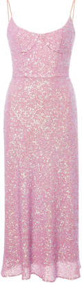 Markarian Exclusive Heart Of Glass Sequin Silk Midi Dress
