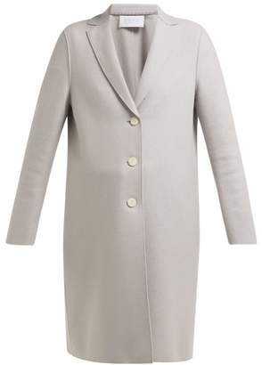 Harris Wharf London Single Breasted Pressed Wool Coat - Womens - Light Grey