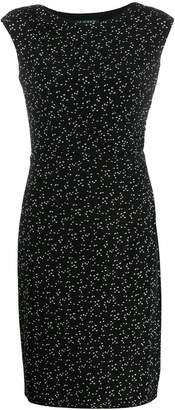 Lauren Ralph Lauren fitted bird-print dress
