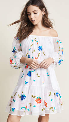 Juliet Dunn Cotton Kota Boho Dress with Belt