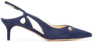 Nanny kitten-heel pumps