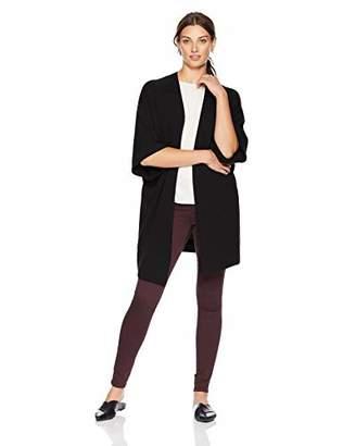 Lark & Ro Women's 100% Cashmere Oversized Drapey Open Cardigan Sweater with Pocket