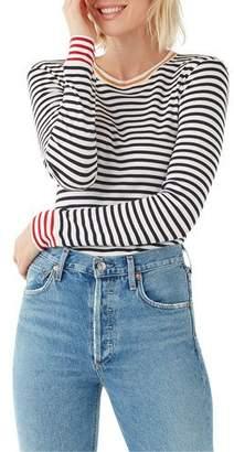 Splendid Wyatt Striped Colorblock Long-Sleeve Top