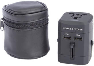 Royce Leather International Travel Adapter With Carrying Case