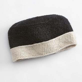Sijjl SIJJL Foldable Brim Crochet Wool Beanie