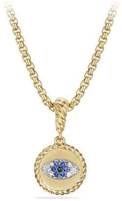 David Yurman 18k Diamond Evil Eye Charm Enhancer
