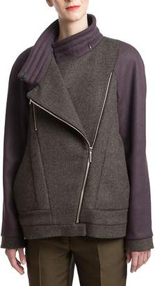 Clara Kaesdorf Long Jacket Purple Sleeves