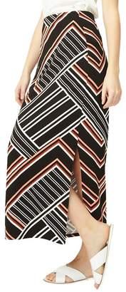 Dorothy Perkins Multi Coloured Geometric Striped Maxi Skirt