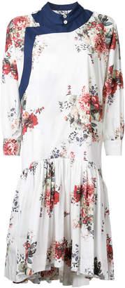 Antonio Marras floral print gathered dress