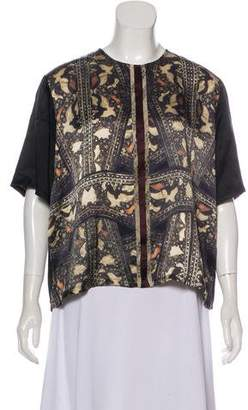 Gary Graham Silk Print Blouse