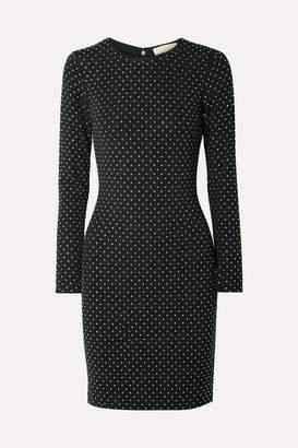 MICHAEL Michael Kors Crystal-embellished Ponte Mini Dress - Black