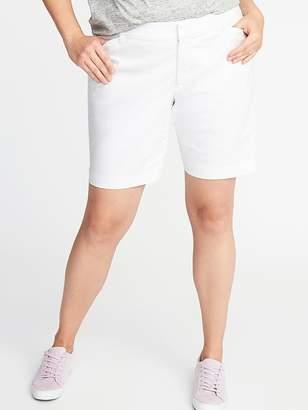 """Old Navy Secret-Slim Pockets Plus-Size Pixie Chino Bermuda Shorts (9"""")"""