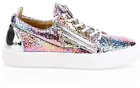 Giuseppe Zanotti Women's Glitter Rainbow Sneakers
