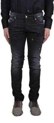 "DSQUARED2 SLIM JEAN"" Men's Black Distressed Jeans US 32 IT 48;"