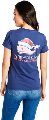Vineyard Vines Santa Whale Pocket Tee