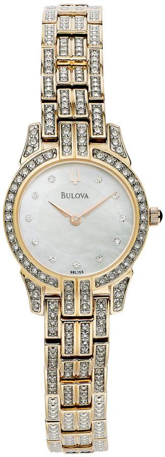 BulovaBulova Women's Crystal Rose Gold-Tone Bracelet Watch 23mm 98L155