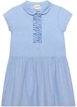 Gucci Kids Children's cotton dress with ruffle detail