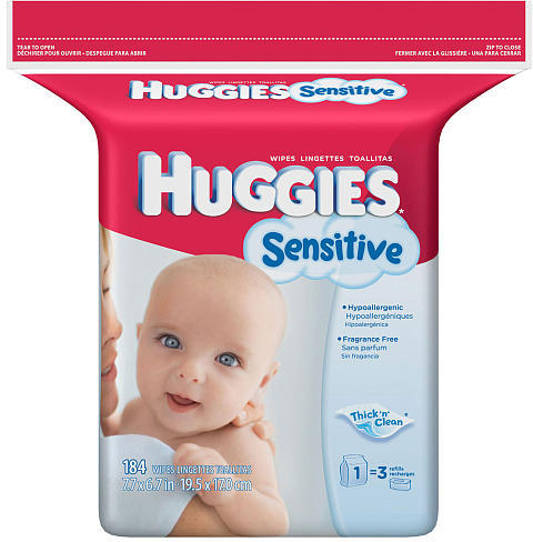 Kimberly Clark Corp. Huggies Extra Sensitive Refill Wipes - 184 ct