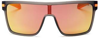 Polaroid Men's Polarized Shield Sunglasses, 99mm