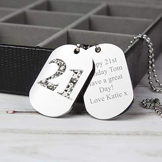Hurley Sarah Personalised Camouflage Age Dog Tag Necklace