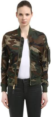 Alpha Industries Ma-1 Vf Lw Camo Print Bomber Jacket
